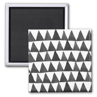 Mod Geometric Triangles Square Magnet