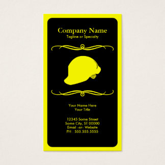 mod hard hat business card
