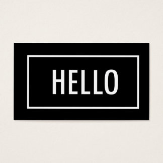 Mod Hello | Business Cards