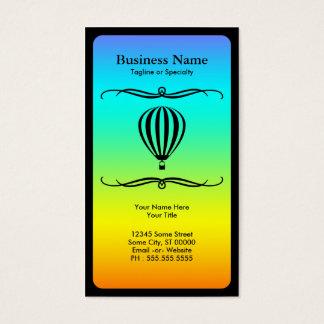 mod hot air balloon business card