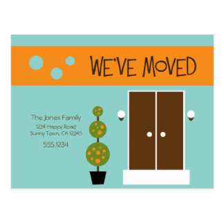 Mod  - Just Moved Announcement Postcard