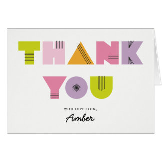 Mod Mama Modern Baby Shower Thank You Note Card