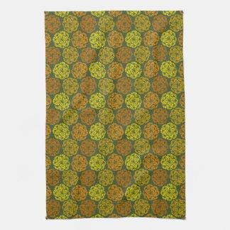 Mod Marigolds Floral Pattern Kitchen Towel