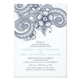 Mod Mehandi Wedding Invitation