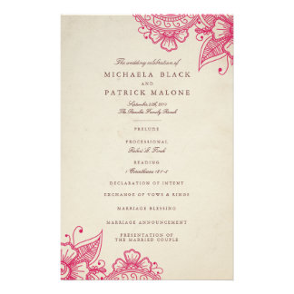 Mod Mehandi Wedding Programs