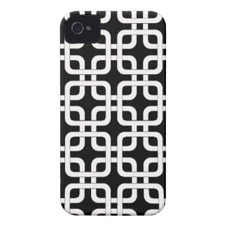 Mod Mid-Century Modern Rounded Corner Square Retro iPhone 4 Covers