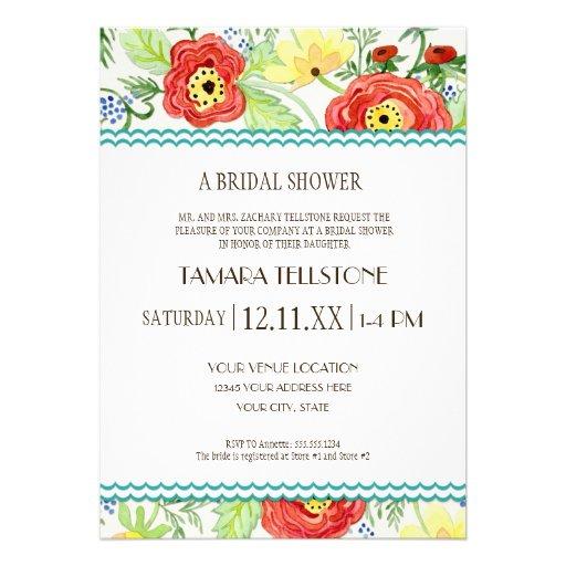 Mod Modern Floral Ranunculus Leaf Rose Bracket Cards