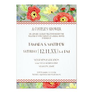 Mod Modern Floral Ranunculus Leaf Rose Bracket Card