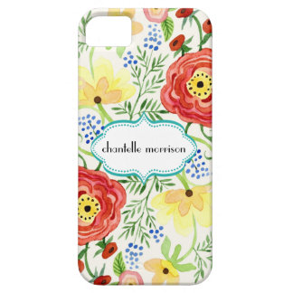 Mod Modern Floral Ranunculus Leaf Rose Bracket iPhone 5 Case