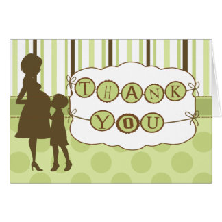 Mod Mom Baby Shower Thank You Note Card