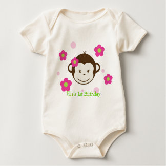 Mod Monkey Birthday Tshirt girl kids