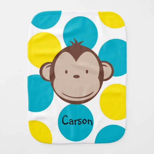 Mod Monkey Boy Burp Cloth