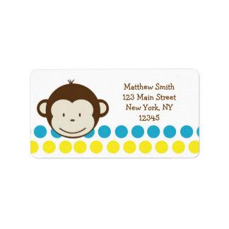 Mod Monkey Boy Return Address labels