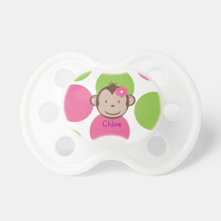 Mod Monkey Girl Pacifier