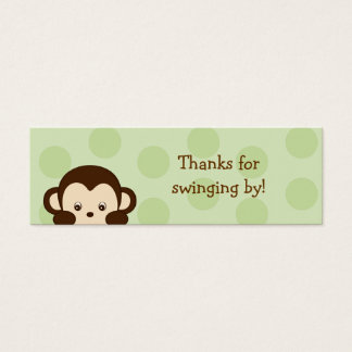 Mod Monkey Green Party Favor Gift Tags Mini Business Card