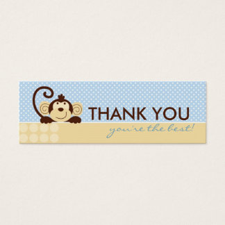 Mod Monkey TY Skinny Gift Tag Mini Business Card