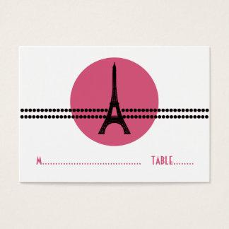 Mod Parisian Dots Place Card, Pink Business Card