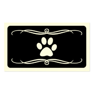 mod pet paw business cards