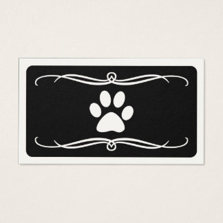 mod pet paw business card