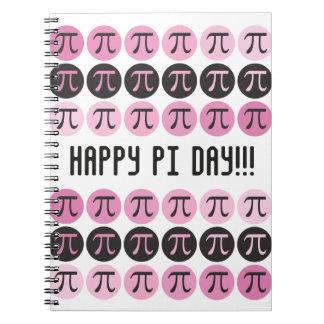 Mod Pi  - Cool Pink Pi Spiral Notebook