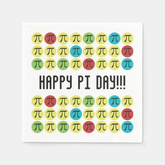 Mod Pi - Happy Pi Day Party Napkin