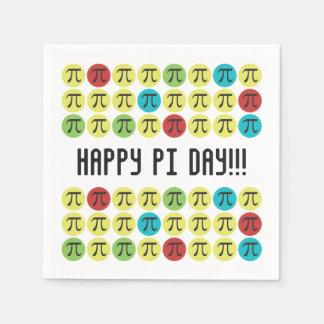 Mod Pi - Happy Pi Day Party Paper Napkins