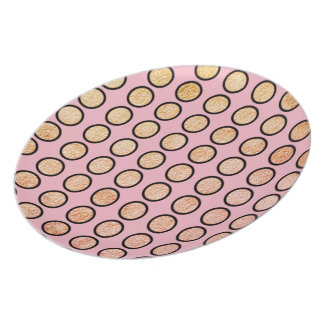 MOD-PINK-GOLD-FOIL-DOTS-PLATE''S-Multi-Size Plate