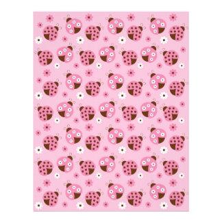Mod Pink Ladybug Baby Scrapbook Paper