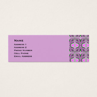Mod Pink Mauve Abstract Pattern Mini Business Card