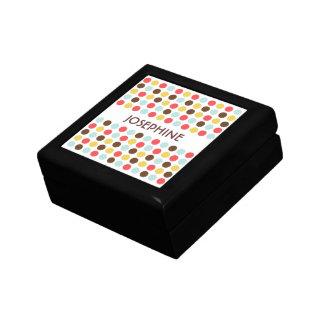 Mod polka dots red yellow blue modern trinket box