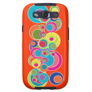 Mod Pop Art Bold Bright Abstract Bubbles Galaxy SIII Cases