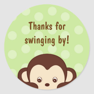 Mod Pop Monkey Shower Stickers Envelope Seals