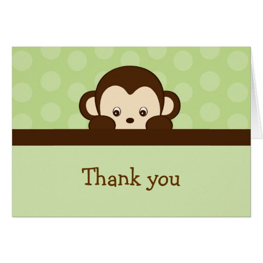Mod Pop Monkey Thank You Note Cards
