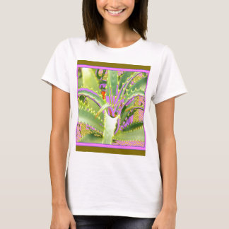 Mod Purple-Pink-Green Agave Gifts T-Shirt