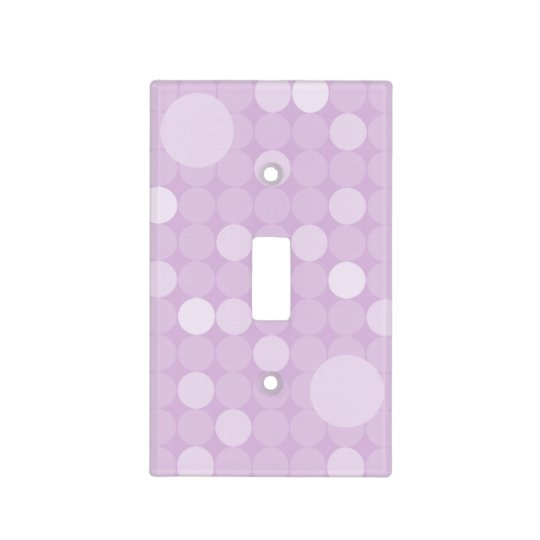 Mod Purple Polka Dot Light Switch Cover