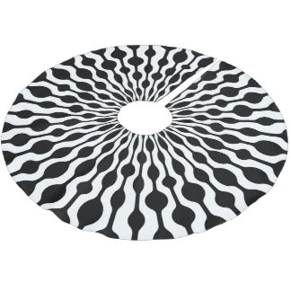 Mod Radial Drops Brushed Polyester Tree Skirt