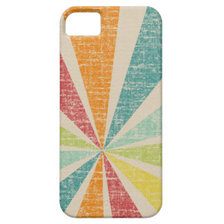 Mod Rainbow Sun Burst Grunge Rustic Colorful Case For The iPhone 5