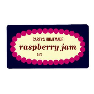 Mod Raspberry Jam Home Canning Jar Label