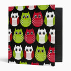 Mod Retro Christmas Owl Binder