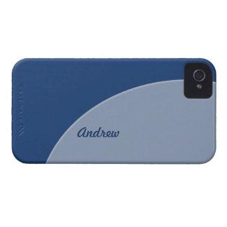 Mod Retro Two Toned Blue iPhone 4 Case-Mate Case