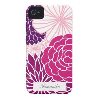 Mod rose et pourpre floral coques iPhone 4 Case-Mate