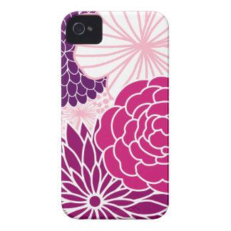 Mod rose et pourpre floral coques Case-Mate iPhone 4
