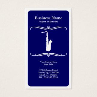 mod saxophone business card