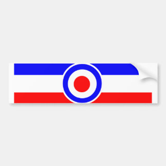 Mod Scooter target with stripes Bumper Sticker
