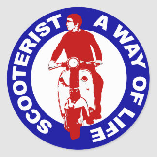 Mod Scooterist A Way Of Life Classic Round Sticker