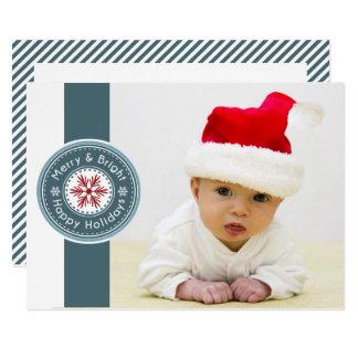 Mod Seal Photo Holiday card