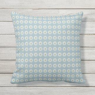 Mod-Soft-Blue-Daisy-Outdoor-Indoor-Pillow-Set's Outdoor Pillow