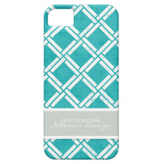 Mod Square Diagonal Trellis Pattern Personalized iPhone 5 Cases