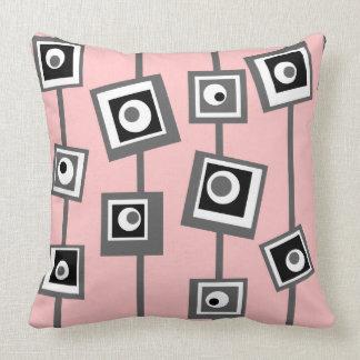 Mod Squares Throw Pillow