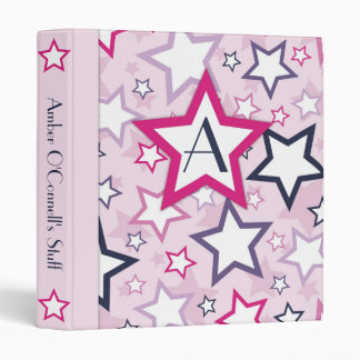 Mod Stars Binder Pink